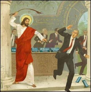 Biblia przeganianie ze światyni bankierów
