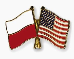 Polska USA flagi